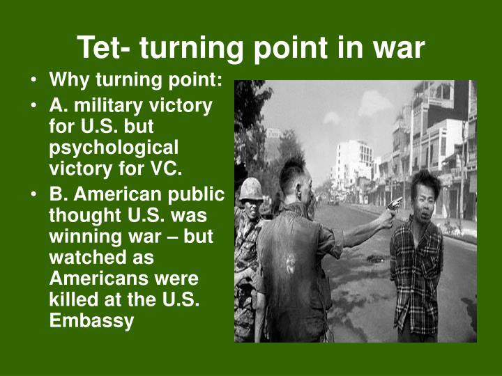 Tet- turning point in war