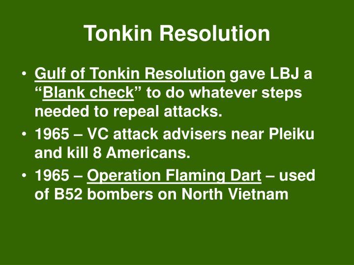 Tonkin Resolution