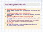 metodologi box jenkins