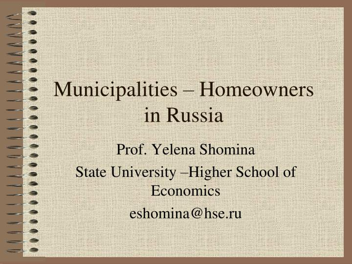 municipalities homeowners in russia n.