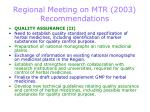 regional meeting on mtr 2003 recommendations2