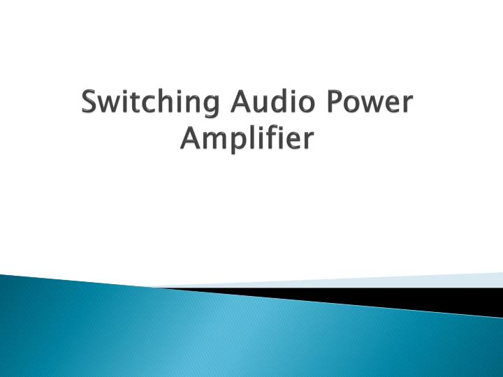 switching audio power amplifier n.