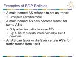 examples of bgp policies