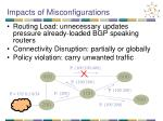 impacts of misconfigurations