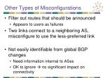 other types of misconfigurations
