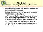 general industry comments concerns