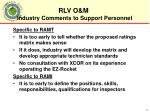 industry comments to support personnel2