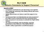 industry comments to support personnel3