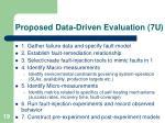 proposed data driven evaluation 7u