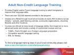 adult non credit language training