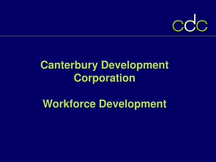 canterbury development corporation workforce development n.