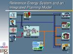 reference energy system and an integrated planning model