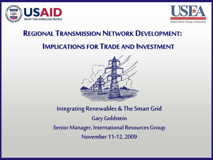 regional transmission network development implications for trade and investment n.