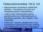 talteenottomenettely 102 2 3