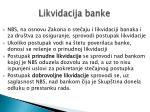likvidacija banke