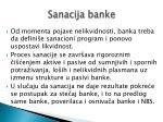 sanacija banke