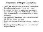 progression of magnet descriptions