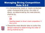 managing diving competition rule 9 2 2