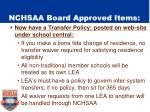 nchsaa board approved items1