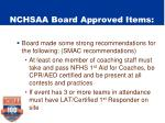 nchsaa board approved items2
