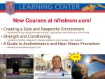 new courses at nfhslearn com