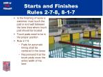 starts and finishes rules 2 7 8 8 1 7