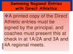 swimming regional entries with direct athletics6