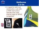uniforms 3 3 3c
