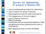 barriers for implementing ji projects in romania ii