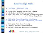 supporting legal frame