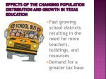 effects of the changing population distribution and growth in texas education