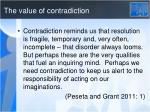 the value of contradiction