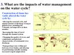 3 what are the impacts of water management on the water cycle
