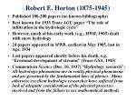 robert e horton 1875 1945