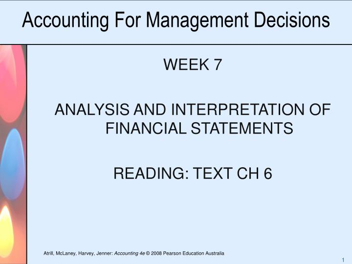accounting for management decisions n.