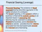 financial gearing leverage