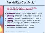 financial ratio classification