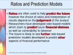 ratios and prediction models