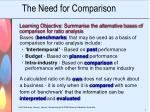 the need for comparison