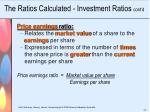 the ratios calculated investment ratios cont d5