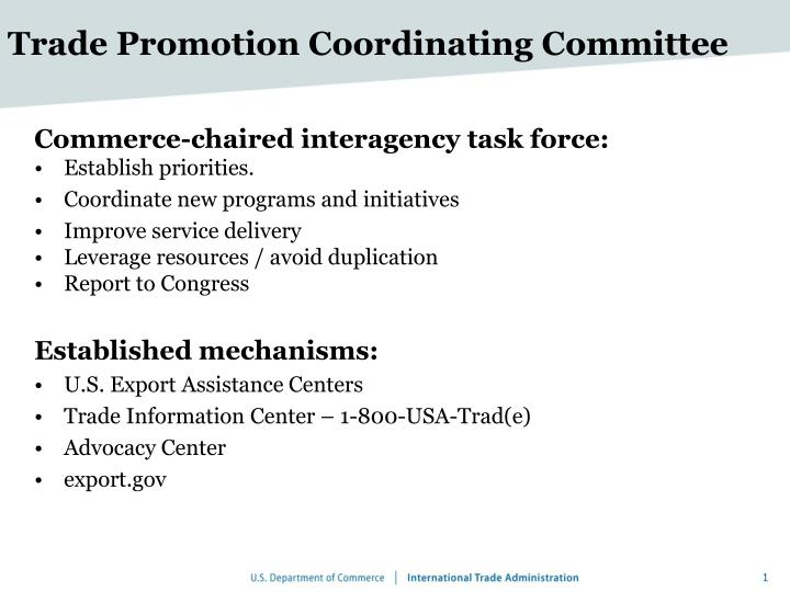 trade promotion coordinating committee n.