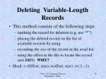 deleting variable length records