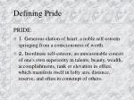 defining pride