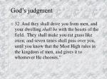 god s judgment