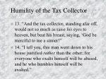 humility of the tax collector
