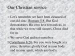 our christian service