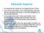educaci n superior