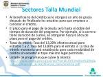 sectores talla mundial1