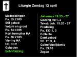 liturgie zondag 13 april10