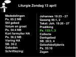 liturgie zondag 13 april14
